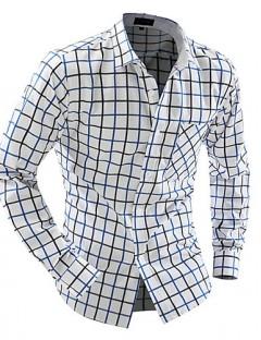 پیراهن آستین بلند چهار خانه مردانه