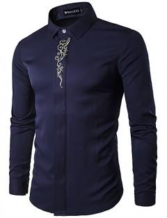 پیراهن آستین بلند مردانه طرح دار