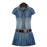پیراهن جین زنانه آبی