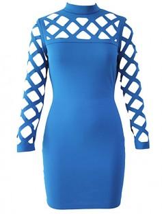 پیراهن توری زنانه آبی