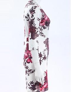 پیراهن زنانه یقه گرد گلدار
