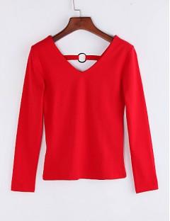 پیراهن یقه باز زنانه آستین بلند